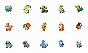 Starters and their evolutions. : pokemon
