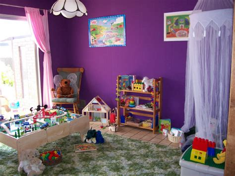 Kids Playroom With Purple Walls