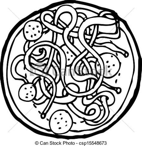 spaghetti clipart black and white vectors illustration of spaghetti and meatballs
