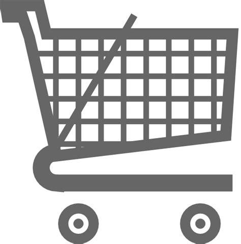 Shopping Cart Clipart Grey Shopping Cart Clip At Clker Vector Clip