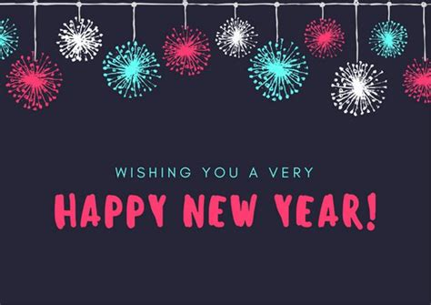 new year template new year card templates canva