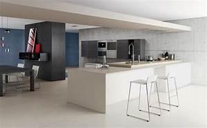 ilot cuisine sur mesure ilot de cuisine mesure standard With meuble ilot central cuisine 14 plan de travail pour bar de cuisine pied de table lot de