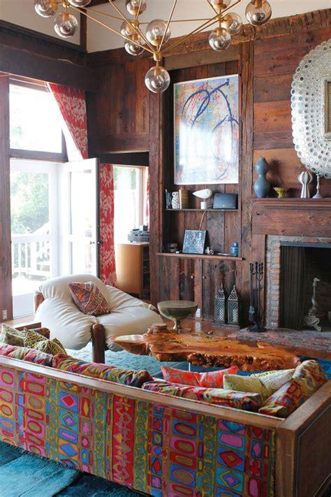 boho modern living space