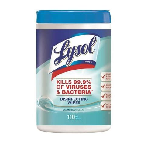 LYSOL Wipes 110-Pack Cotton Cloth in the Cleaning Cloths