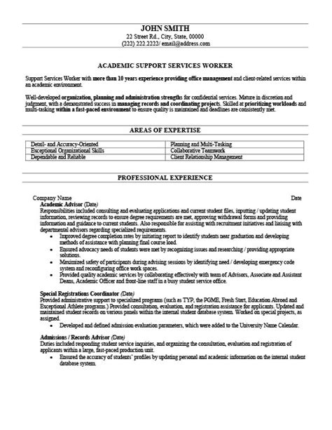 Academic Advising Resume by Academic Advisor Resume Template Premium Resume Sles Exle