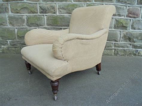 Antique English Upholstered Armchair Howard Style