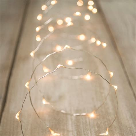 led lights in silver wire 20 foot warm white ebay - Plug In Led Fairy Lights