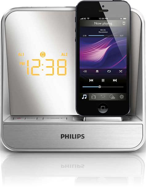 iphone alarm sound alarm clock radio for ipod iphone aj5305d 05 philips