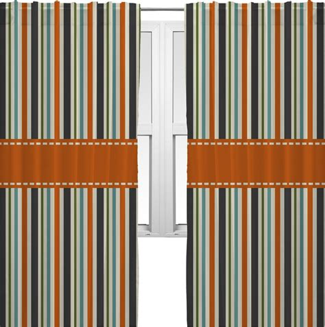 orange striped curtains orange blue stripes curtains 40 quot x54 quot panels lined 2