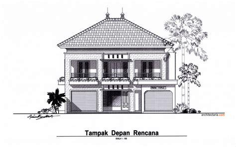 desain rumah kost  lantai sederhana