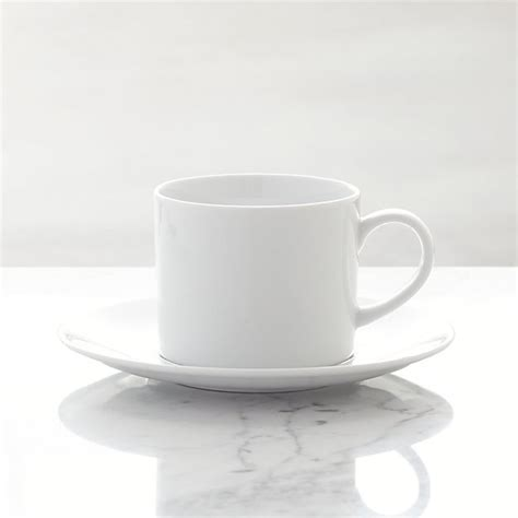White Coffee Cup and Saucer + Reviews | Crate and Barrel