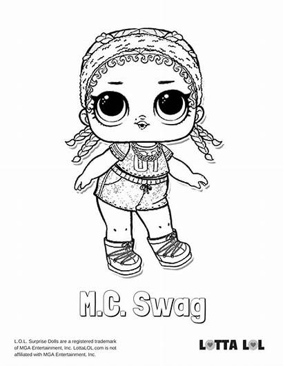 Lol Swag Coloring Mc Glitter Pages Surprise