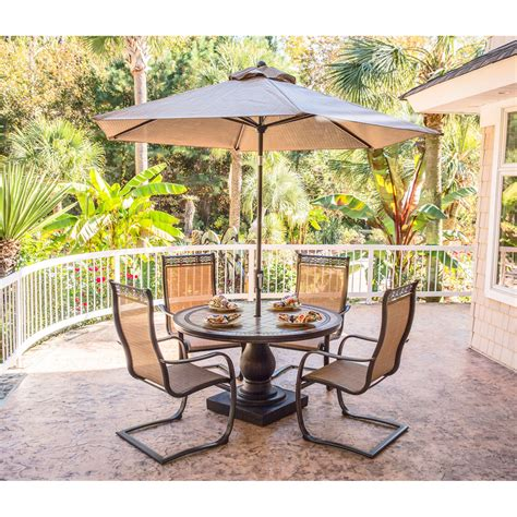 monaco 5pc outdoor dining set with c chairs tile