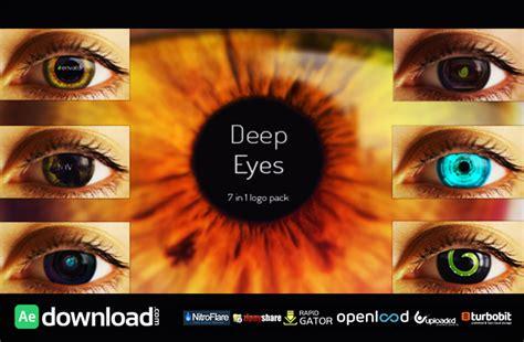 deep eyes template deep eyes 7 in 1 logo pack free videohive template