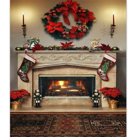 7x5ft fireplace photography backdrop vinyl