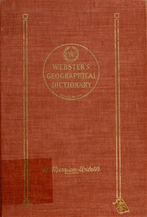 websters geographical dictionary  edition open