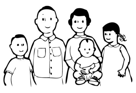 single parent family clipart black and white members of the family clipart black and white clipground