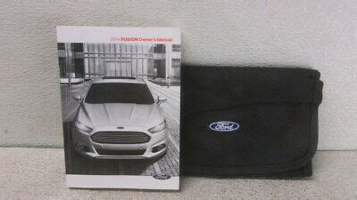 ford fusion owners manual booklet wcase oem lkq