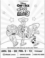 Coloring Toy Story Ice Disney Pages Sheet Pixar Tickets Chosen Presents Fun Pack Mama sketch template
