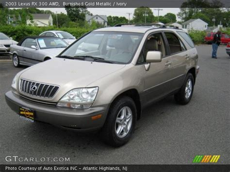 gold lexus rx burnished gold metallic 2003 lexus rx 300 awd ivory