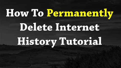 how to permanently delete history tutorial new 2017