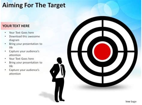 aiming   target man  bullseye business concept