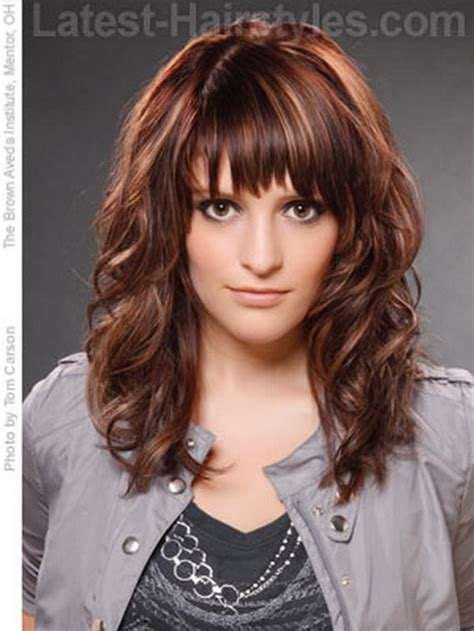 haircuts for long curly hair with bangs