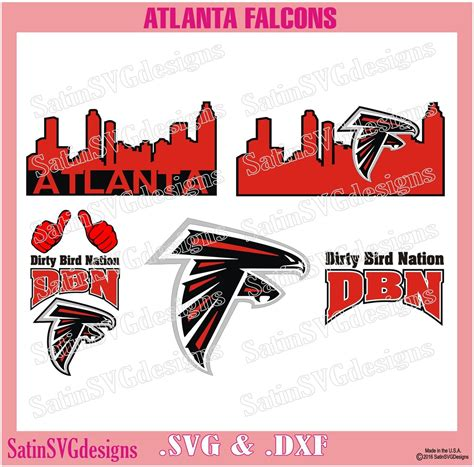 atlanta falcons city design svg files cricut silhouette studio digital cut files