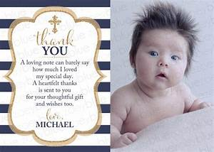 Thank you card templates free sample example format for Baptism thank you card template