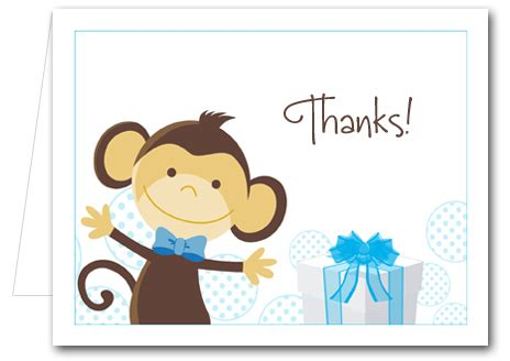 monkey blue gifts note cards   notes