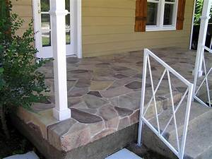Concrete Stained Porch - Savard Creative Design