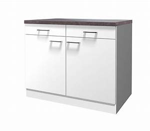 Schubladen Unterschrank Küche : k chen unterschrank lucca 2 t rig 100 cm breit wei ~ Michelbontemps.com Haus und Dekorationen