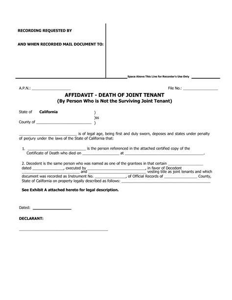 domestic partner affidavit form california blank documents