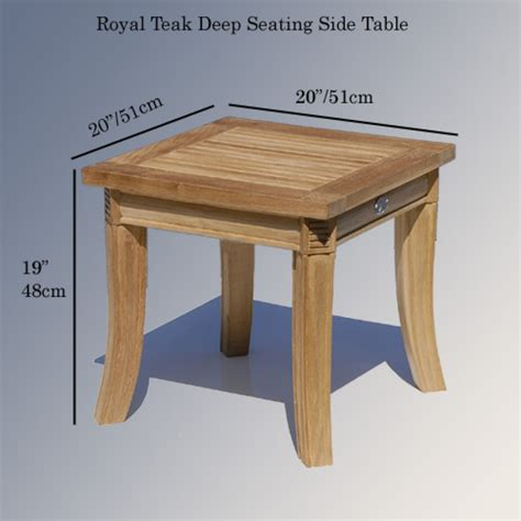 teak outdoor garden end table royal patio side table