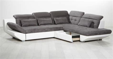 canape synthetique canapé d 39 angle eternity gris blanc sb meubles discount