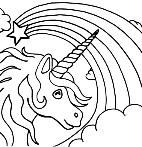 unicorn rainbow coloring pages  coloring pages