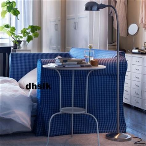 ikea hagalund sofa bed slipcover cover fruvik blue white