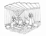 Crib Coloring Christmas Pages Printable Justcolor sketch template