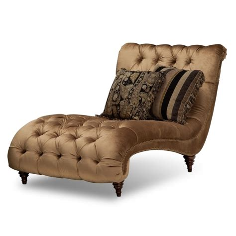 brown tufted microfiber oversized chaise lounge chair with