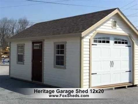 12x20 Shed by Heritage Garage 12x20 By Fox S Country Sheds