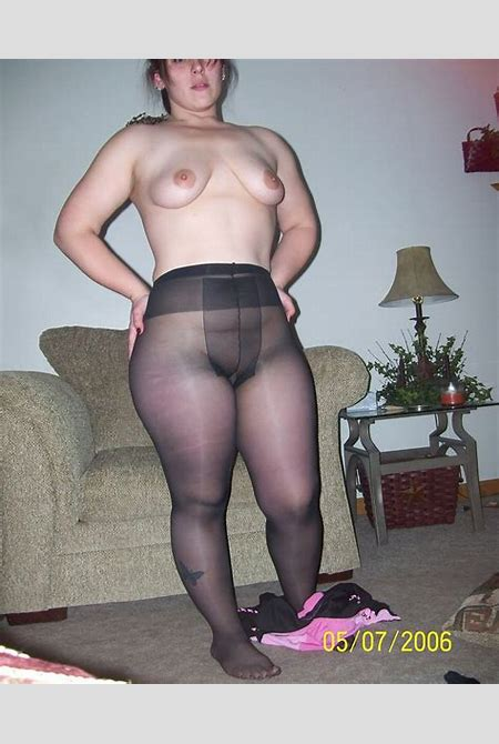 Chubby Amateur In Her Pantyhose