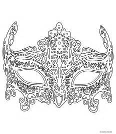 Coloriage Masque De Venise En Dentelle  Un Max De