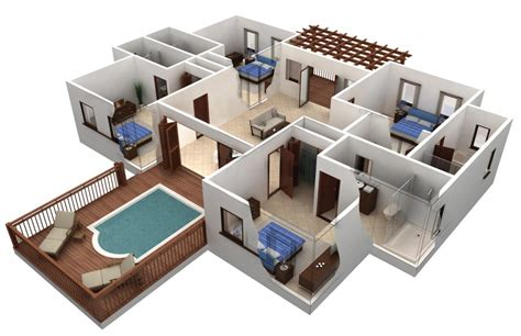 25 Two Bedroom Houseapartment Floor Plans by Awesome Free 4 Bedroom House Plans And Designs New Home