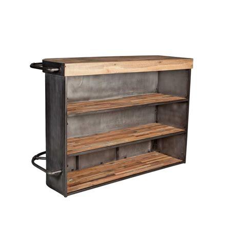 meuble table bar cuisine table de cuisine haute avec rangement maison design