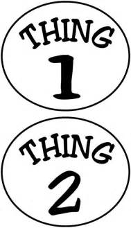 Thing 1 and Thing 2 Printable Template