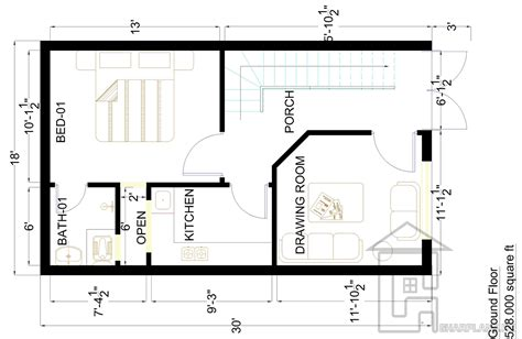 2 Marla Home Design : House Plan Drawings 7 Marla