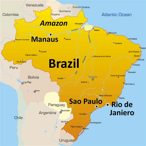 brazil map travelsfinderscom