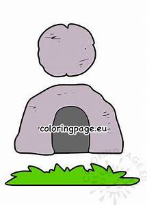 Empty tomb Religious Easter Craft – Coloring Page