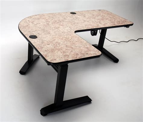 l shaped adjustable desk ergo l height adjustable l shaped desk page 2 martin