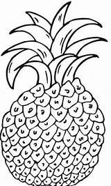 Pineapple Coloring Pages Para Colorear Printable Sheets Frutas Imagenes Imprimir Bestcoloringpagesforkids sketch template